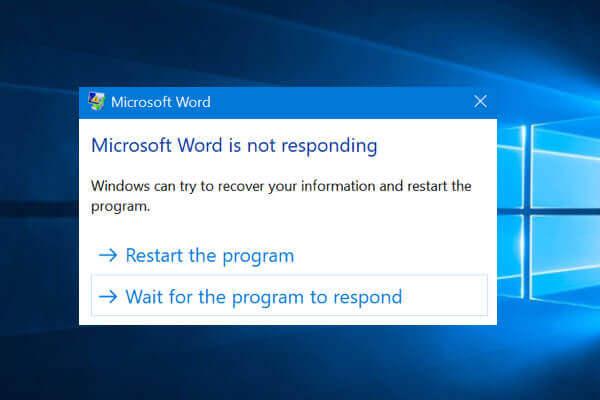 microsoft word not responding windows