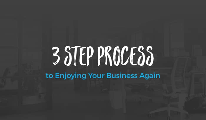 3 Step Process to Enjoying Your Business Again