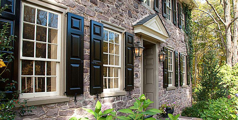 Use wood shutters