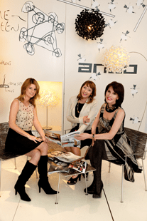 Conceptualizing a modern space with her talented design team at Muleh in Washington, DC.