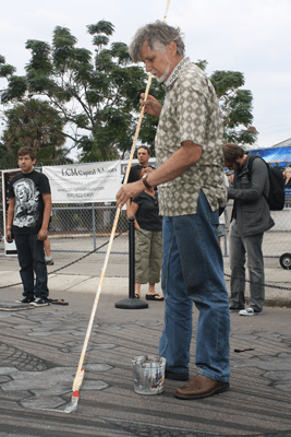 Kurt Wenner at the 2011 Sarasota Chalk Festival