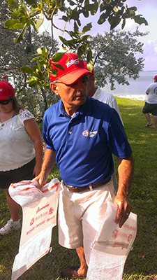 """No stranger to hands-on activities John and the team participate in """"Beach Cleanup"""" alternating yearly between Sarasota and Manatee"""