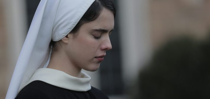 Margaret Qualley as Sister Cathleen in Novitiate