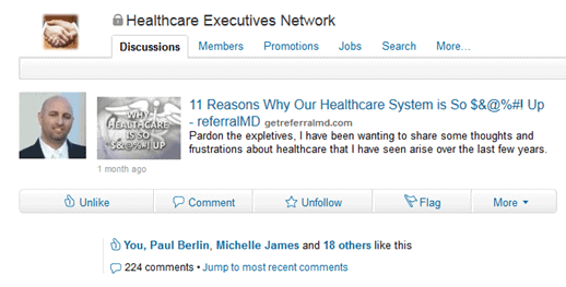 linkedin Another 11 Reasons Why Our Healthcare System is So $&@%#! Up – PART 2