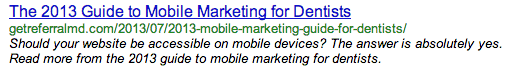On-Page-Optimization The 2013 Guide to Mobile Marketing for Dentists