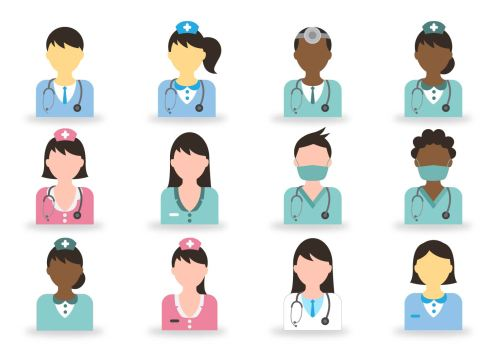 vector doctor and nurse icon - 5 Unique Benefits of Working in Healthcare