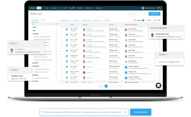 Referral Management Software, Home