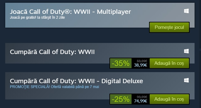 Call of Duty WWII free weekend