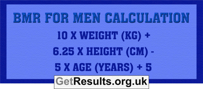 Get Results: BMR men calculation