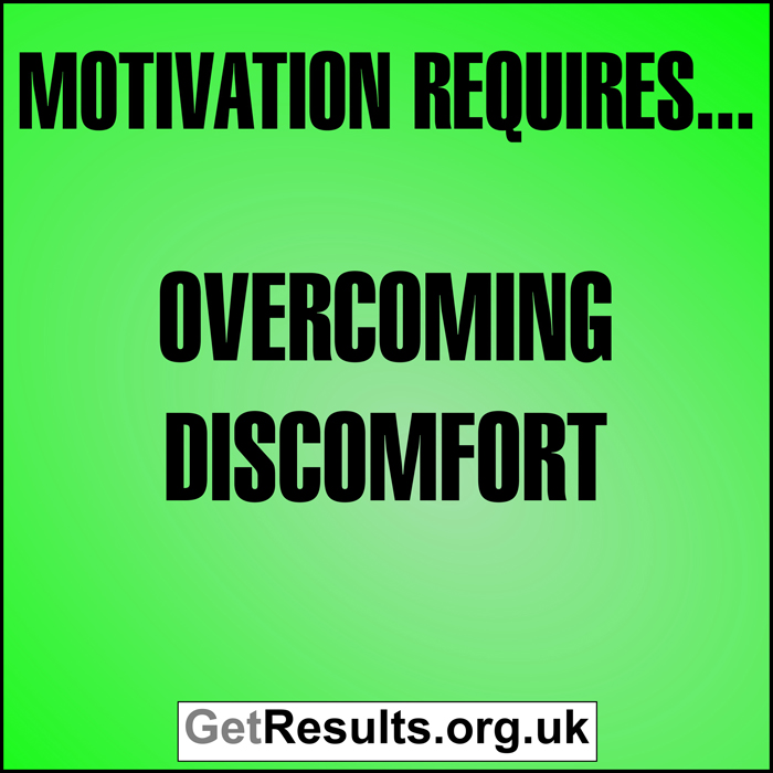 Get Results: motivation requires overcoming discomfort