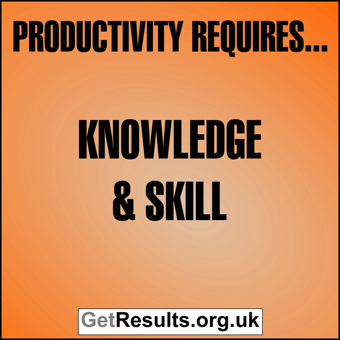 Get Results: Productivity requires knowledge and skill