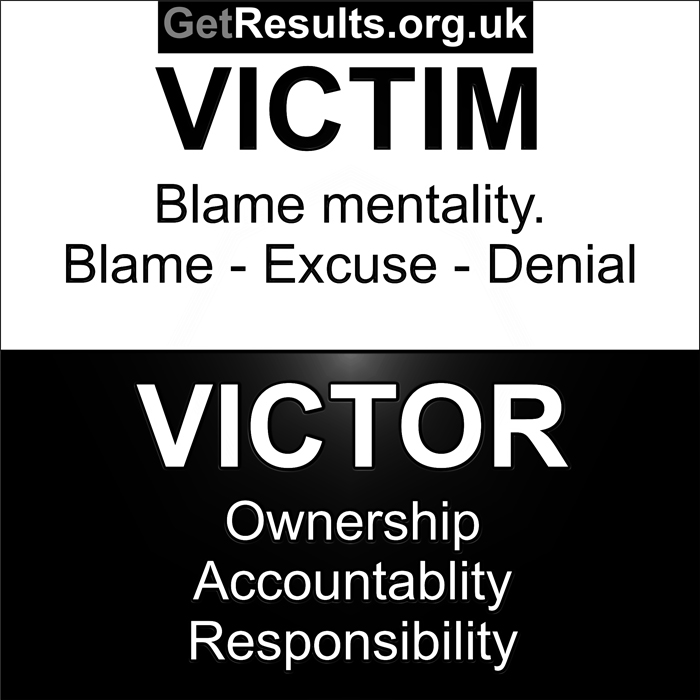 Get Results: Be a victim or a victor