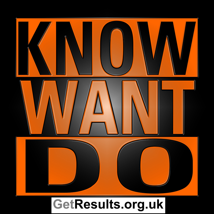 Get Results: know want and do
