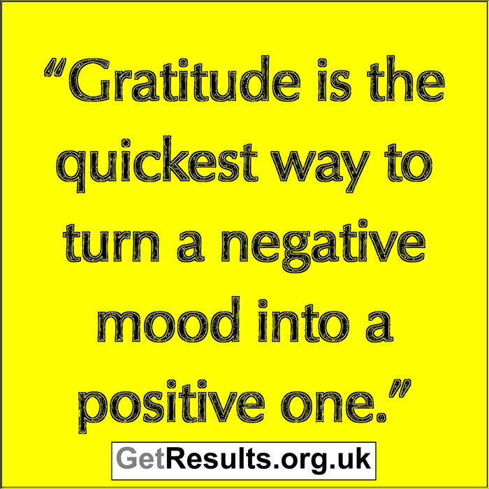 Get Results: gratitude changes mood