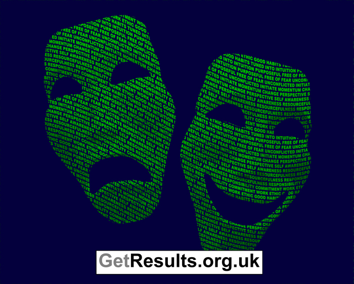Get Results: hiding behind a mask