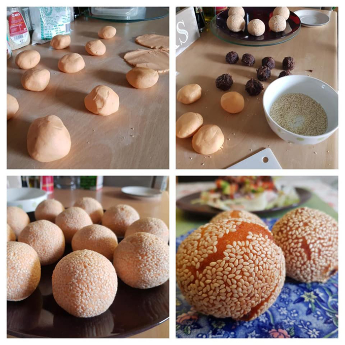Get Results: Sesame seed balls or Buchi