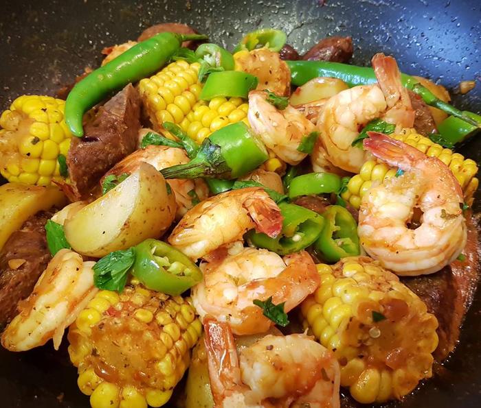 Get Results: garlic butter prawns