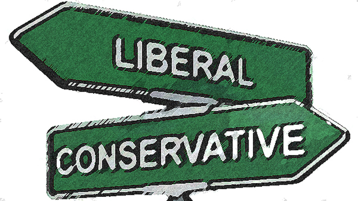 Liberalconservative sign