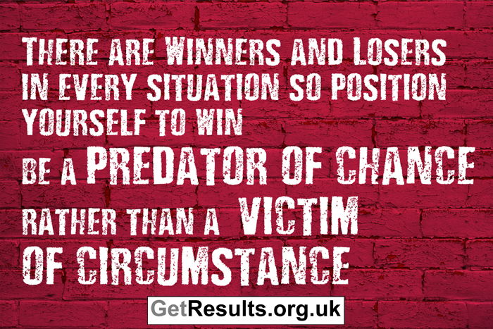 Get Results: winners and losers predator of chance and victim of circumstance