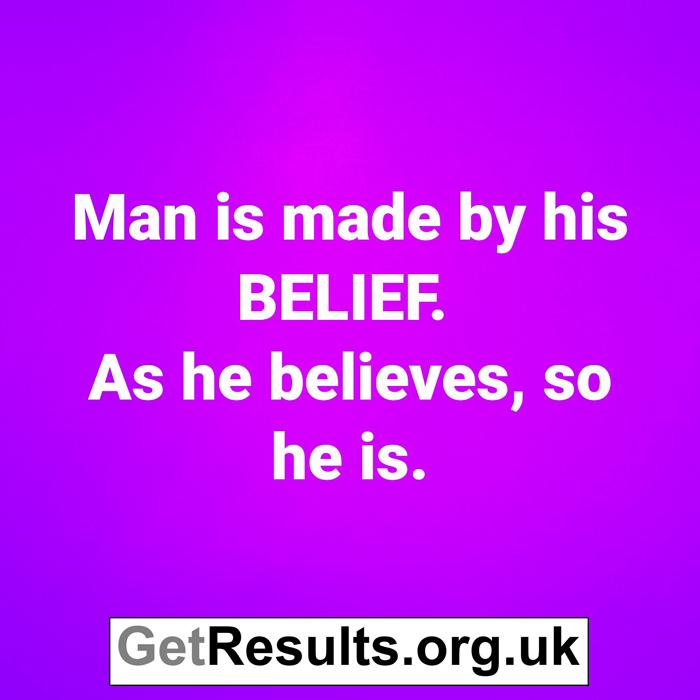 Get Results: belief