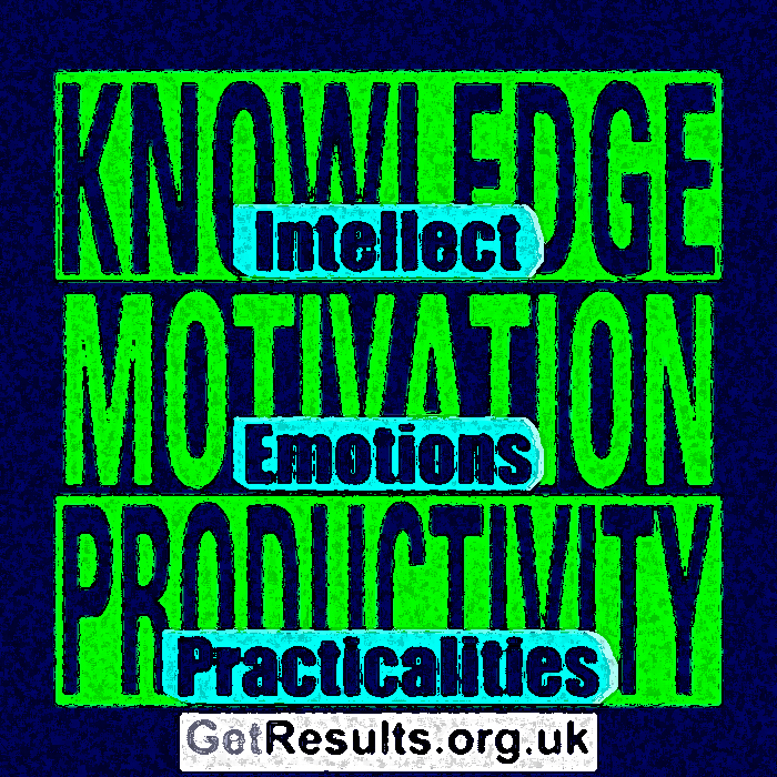 Get Results: knowledge motivation and productivity