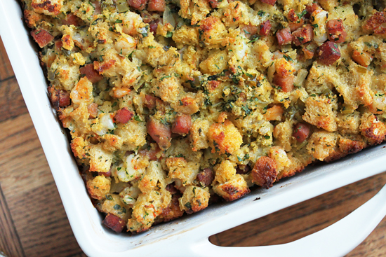Classic stuffing recipe with Saucey Sauce