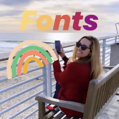Get rainbow fonts in Instagram