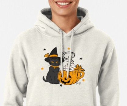 Pumpkin spice kitty pullover