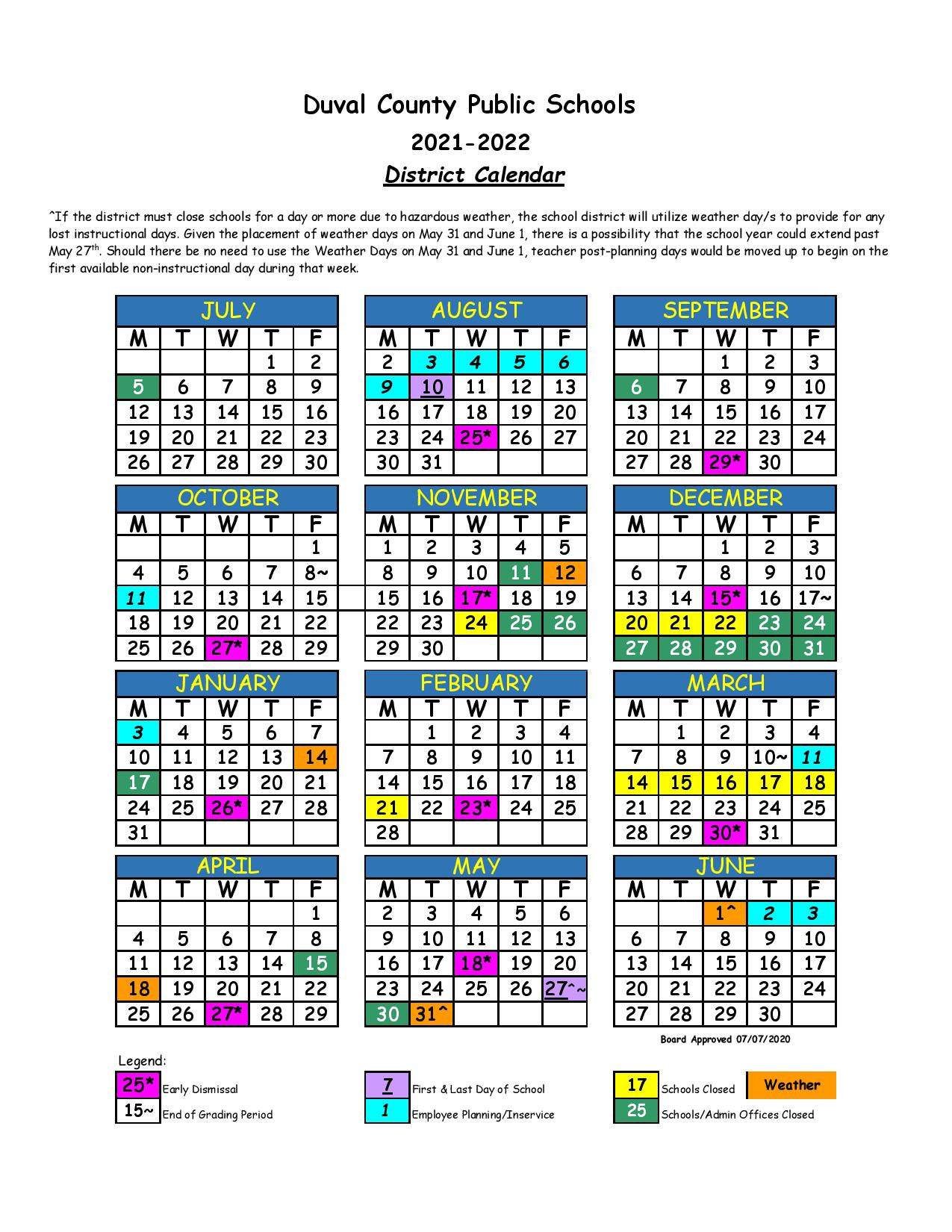 Dcps 2022 2023 Calendar.Duval County School Calendar 2021 2022