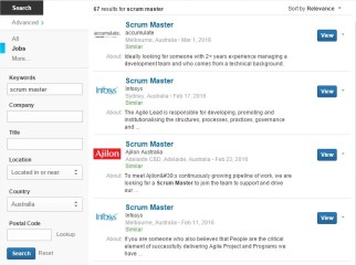 Scrum Master Jobs Australia