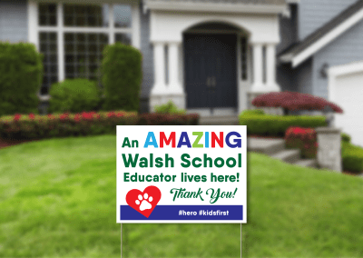 Mary Walsh Teacher Sign