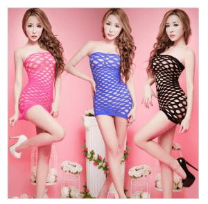 Sexy Lace Fishnet Lingerie Dress