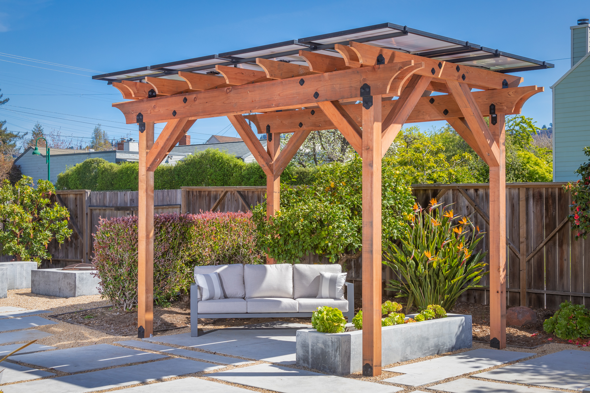 shade power solar pergola