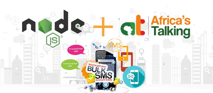 Send sms by node js using Africa's Talking gateway