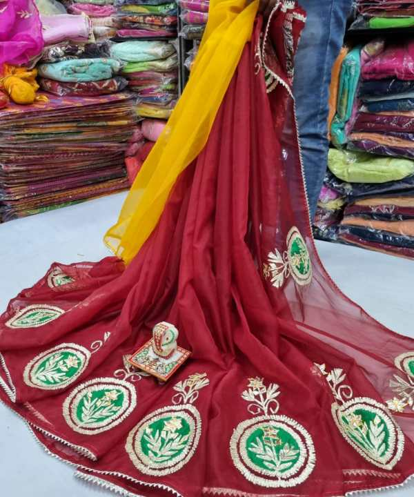 Embroidered Organza Saree With The Latest Collection Of Organza Saree.