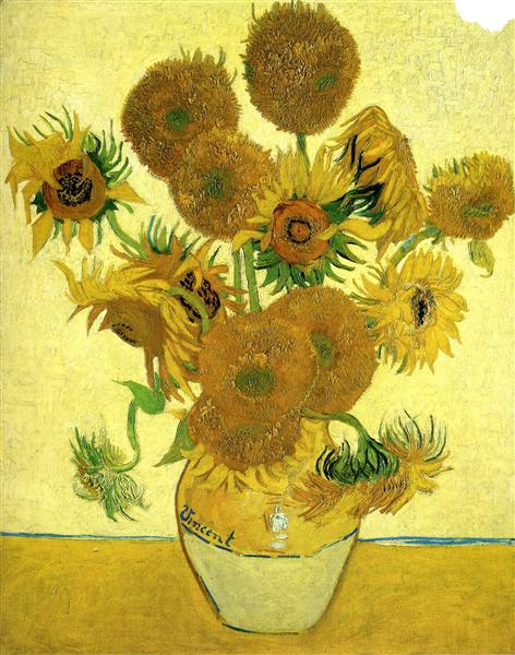 Vase with Fifteen Sunflowers | Painted by Vincent van Gogh | 25 Most Expensive Paintings in the World