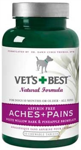 Veterinarian's Best Aspirin Free Aches & Pains Formula Chewable Tablets, 50 Count