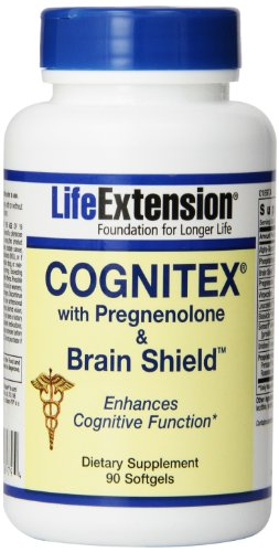 Life Extension Cognitex Plus Pregnenolone with Brain Shield Softgels, 90 Count