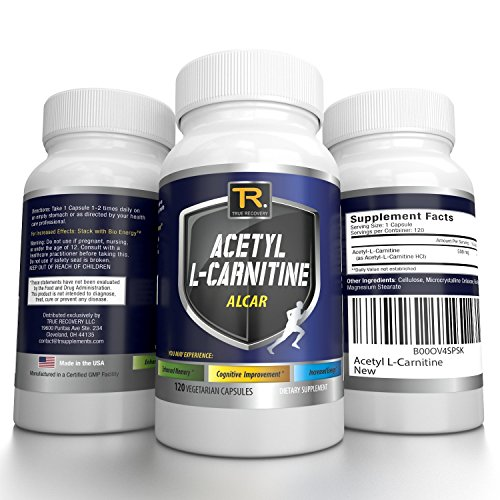 #1 Acetyl L-Carnitine – ALCAR – Guaranteed Potency ★ Boost Energy ★ Improve Memory ★ And Increase Perception | 500 Mg | 120 Vegetarian Capsules – 100% Money Back Guarantee By TR Supplements ● Love It Or Your Money Back