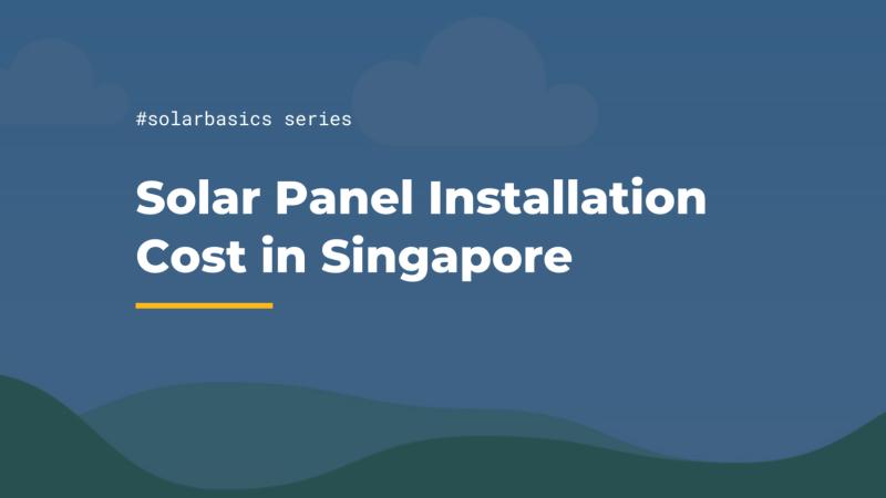 solar panel installation maintenance cost singapore