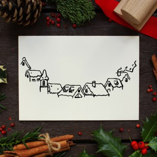 rubber stamp for christmas card