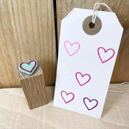 heart outline stamp