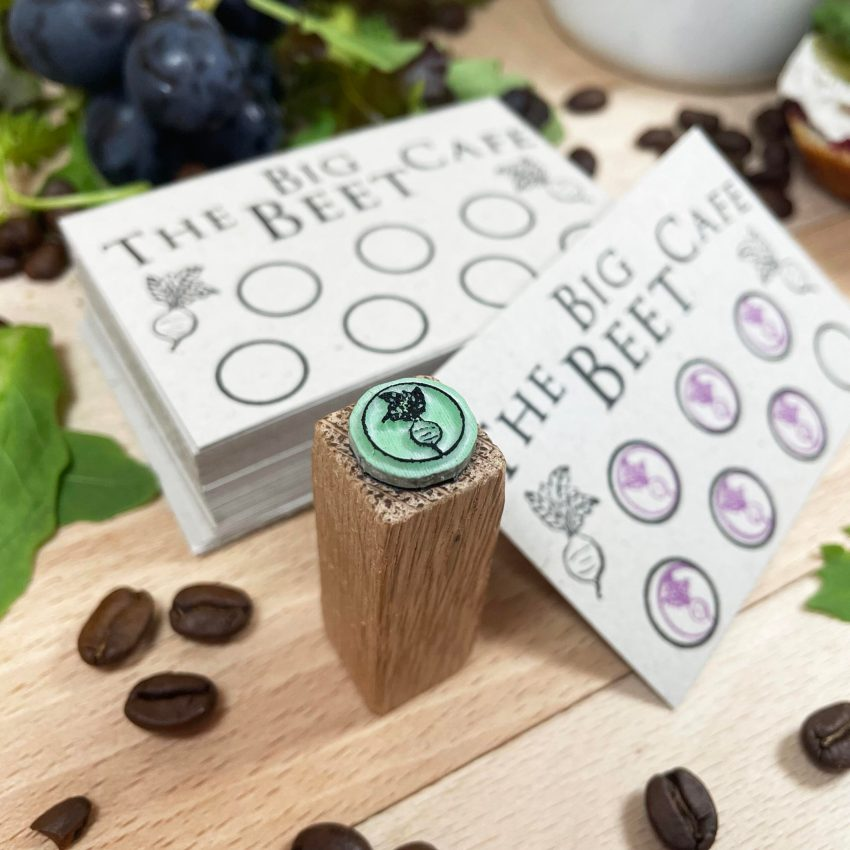 loyalty card stamp for cafe