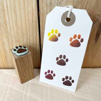 rubber stamp of a paw print