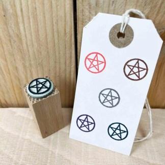 srubber stamp of a pentagram