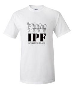 IPF Powerlifting Training T-Shirt White - Light