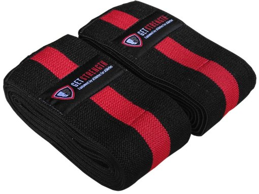 GS Velcro Heavy Duty Knee Wraps (pair) -Lifter Series
