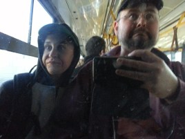 Silly bus selfie