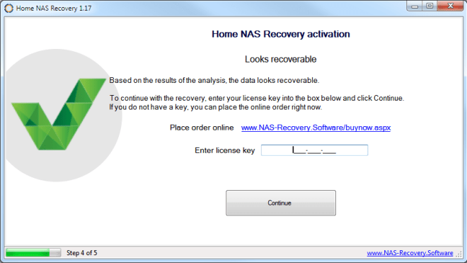 home nas recovery software