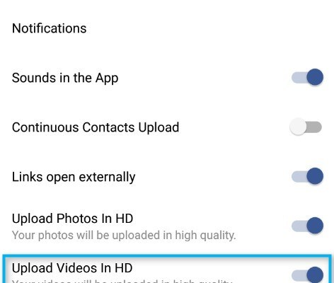 Facebook adds support for HD Video Upload in Android